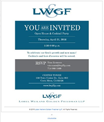 LWGF Mailing Template - Email Marketing Services